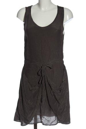 Object Mini vestido marrón estilo extravagante