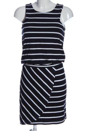Object Minikleid schwarz-weiß Streifenmuster Casual-Look