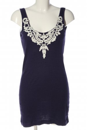 Object Sukienka mini niebieski-biały W stylu casual