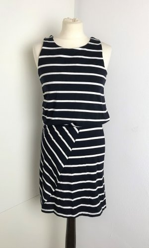 Object Mini vestido negro-blanco