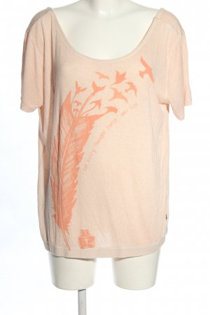 Object Oversized Shirt nude-hellorange Motivdruck Casual-Look