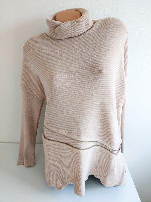 Object Sweter z golfem jasnobeżowy