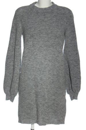 Object Pulloverkleid hellgrau meliert Casual-Look