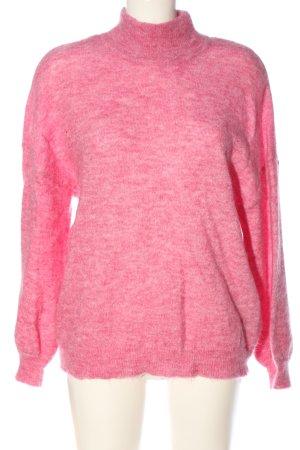 Object Rollkragenpullover pink meliert Casual-Look