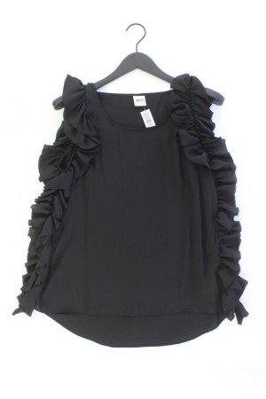 Object Rüschenbluse Größe L Ärmellos schwarz aus Polyester