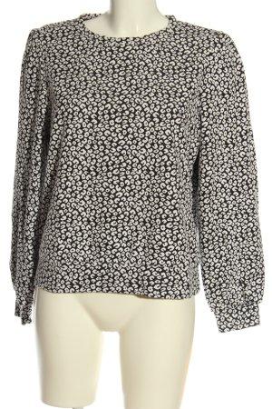 Object Sweter z okrągłym dekoltem czarny-biały Na całej powierzchni