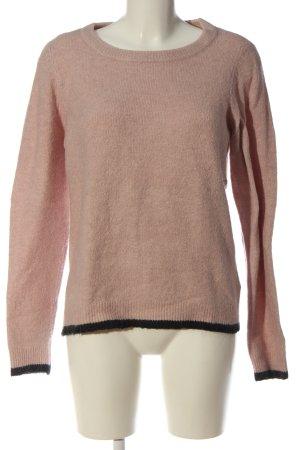 Object Sweter z okrągłym dekoltem różowy-czarny W stylu casual