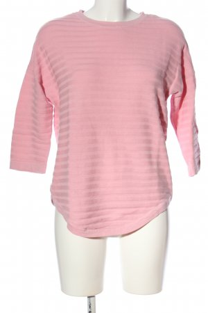 Object Rundhalspullover pink Casual-Look