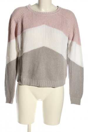 Object Rundhalspullover Streifenmuster Casual-Look