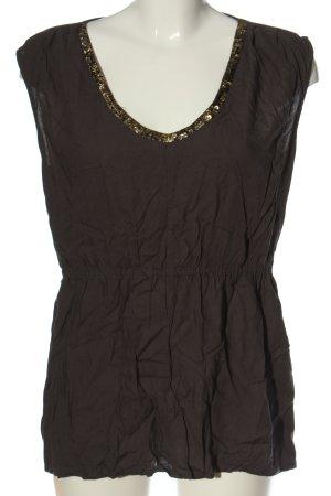 Object Schlupf-Bluse braun Casual-Look