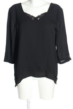 Object Schlupf-Bluse schwarz Casual-Look