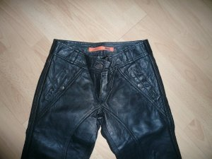 Object Leather Trousers black leather