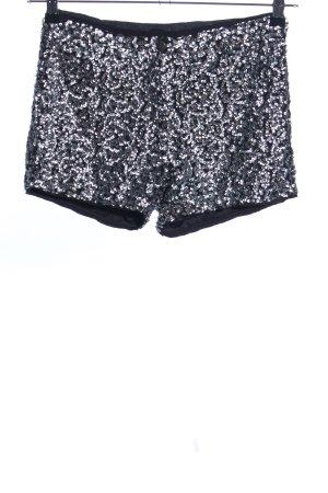 Object Shorts schwarz-silberfarben Elegant