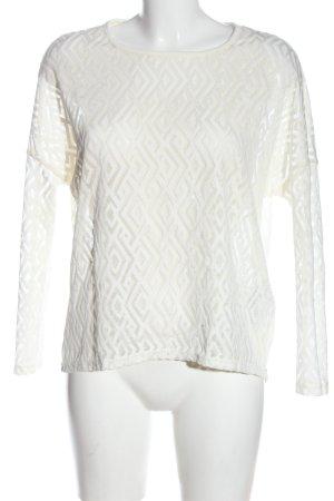 Object Blusa de encaje blanco estampado gráfico look casual