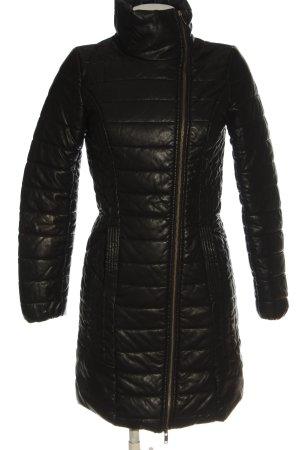 Object Veste matelassée noir motif de courtepointe style décontracté