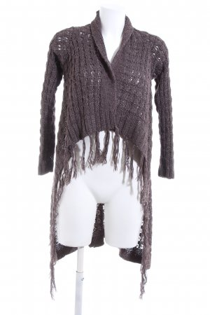 Object Strick Cardigan braun Zopfmuster Casual-Look