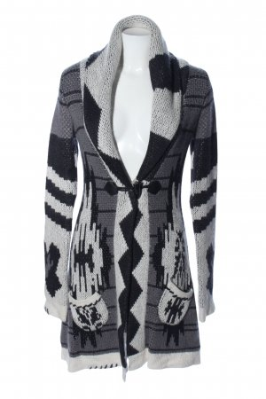 Object Strick Cardigan grafisches Muster Casual-Look
