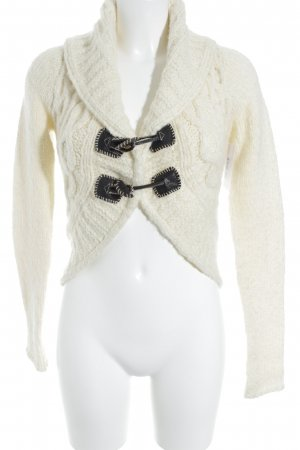Object Strickjacke hellbeige Casual-Look