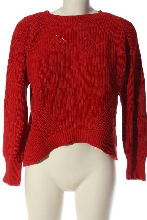 Object Sweter z dzianiny czerwony Warkoczowy wzór W stylu casual