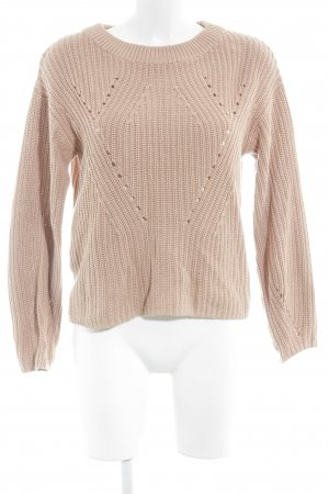 Object Pull tricoté abricot style classique
