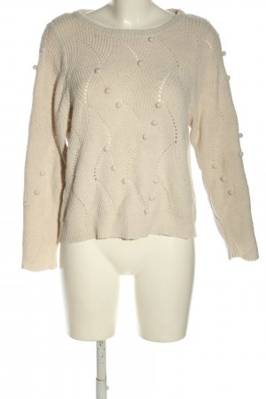 Object Strickpullover creme Casual-Look