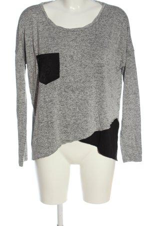 Object Maglione lavorato a maglia grigio chiaro-nero stile casual