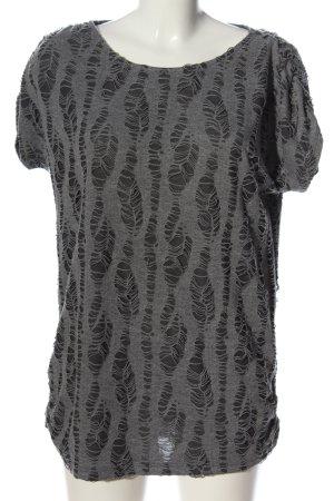 Object Camicia maglia grigio chiaro stampa integrale stile casual