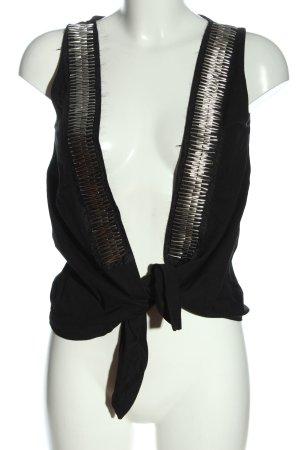 Object Gilet tricoté noir style décontracté