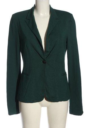 Object Blazer de tela de sudadera verde elegante