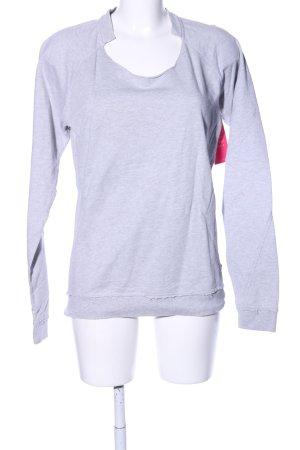 Object Sweatshirt hellgrau meliert Casual-Look
