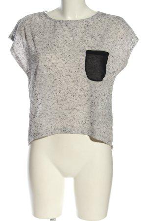 Object T-Shirt hellgrau-schwarz meliert Casual-Look