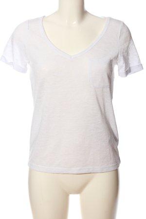 Object T-Shirt weiß meliert Casual-Look