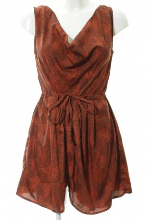 Object Robe à bretelles orange foncé-noir Mélange de motifs