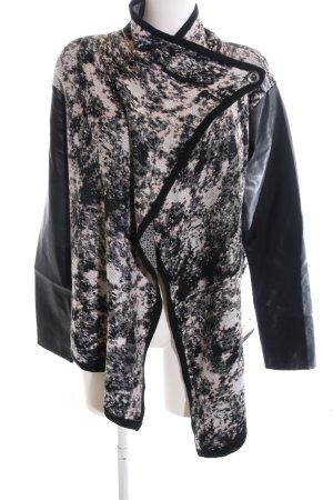 Object Übergangsjacke weiß-schwarz abstraktes Muster Casual-Look