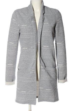 Object Manteau mi-saison gris clair-blanc moucheté style décontracté