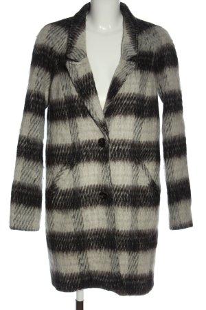Object Abrigo de invierno blanco puro-negro elegante
