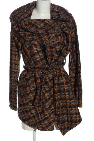 Object Abrigo de lana estampado a cuadros elegante