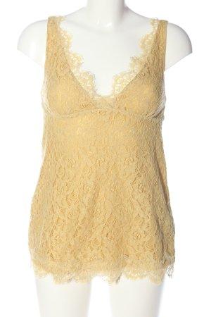 Objets de desir Lace Top nude flower pattern elegant