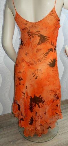 Occhi Neri Sukienka z odcięciem pod biustem ciemny pomarańcz-pomarańczowy