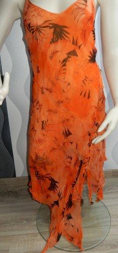 Empire Dress dark orange-orange silk