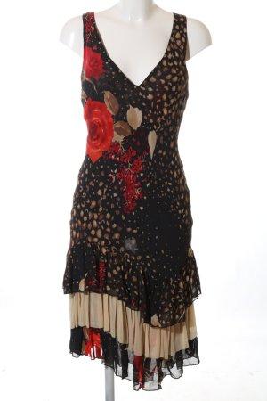 Occhi Neri Robe à volants motif abstrait style décontracté