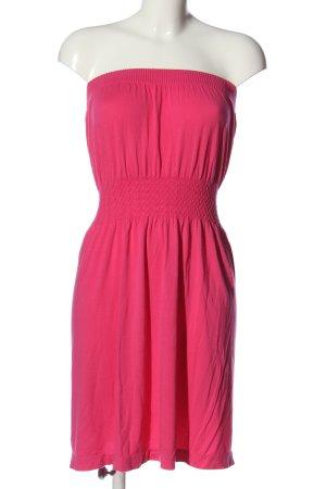 Ocean Club schulterfreies Kleid pink Casual-Look