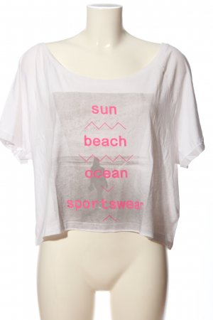 ocean Knitted Top white-pink themed print casual look