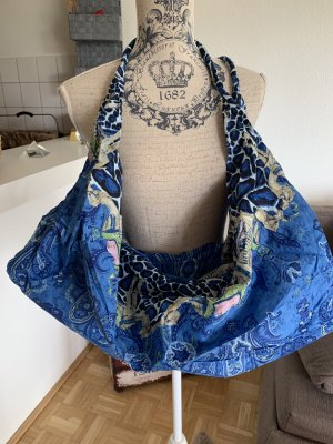 OceanBlue/White Baumwoll Bag/Tasche - Sehr groß - Animal!