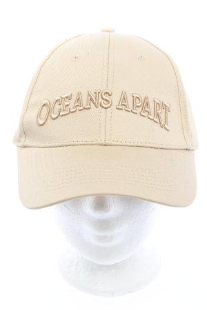 oceans apart Baseball Cap cream printed lettering casual look