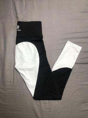 oceans apart Pantalon de sport noir-blanc