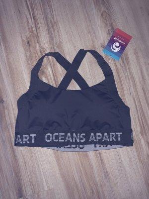 oceans apart Débardeur de sport gris-blanc