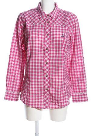 OCK Flanellhemd pink-weiß Allover-Druck Casual-Look