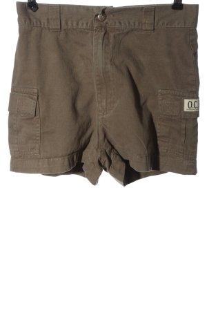 OCK Outdoor Casual Khaki Pantaloncino a vita alta cachi stile casual