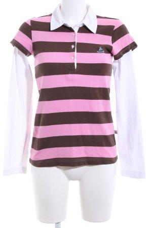 OCK Outdoor Casual Khaki Polo motivo a righe stile casual